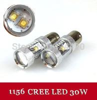 2pcs/lot Bright 600 Lumen CREE 30W 1156/Ba15s/P21W Power LED Backup Reverse Tail Light Bulb Lamp White DRL Low Beam Headlight