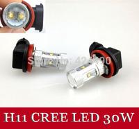 1pcs   High Power 30W  Xenon White H11 CREE LED Fog Light Driving Headlight parking car light sourse 12V