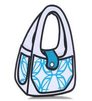 2014 New Design Fashion 3D Jump Style Comic Handbags Women's Cartoons Totes 2D Printed Novely Gismo Shoulder Bag for girls