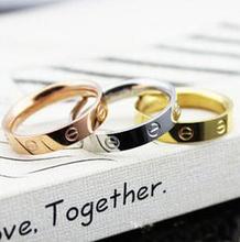 Eternity rings Ny drama brand love couple titanium steel ring B5-6 R055