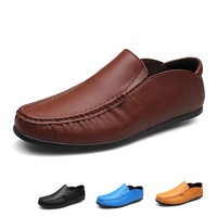 Full Grain leather handmade autumn shoes for men,Hecrafted brand men leather loafers