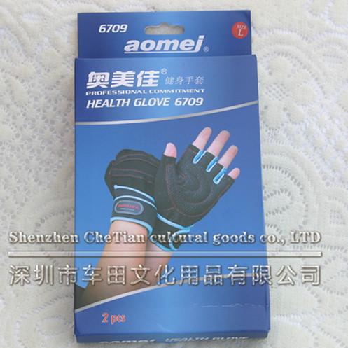Aomej/ogilvy 6709 fitness gloves equipment Sports gear sports gloves(China (Mainland))