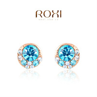 ROXI brand blue color stud earring ,new arrival,Christmas gift for women,Fashion Jewelry,2020418210