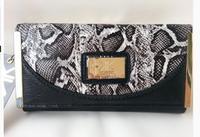 2014 New Arrival! Kim Kardashian Kollection Women Long Wallet/ Snake Pattern Brand Designer Celebity Purse Free Shippingkk-w-10