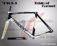 2014 NEW ! Trident Thrust greatkeen company 100% carbon road bike frame high quality seatpost clamp fork headset  free shipping