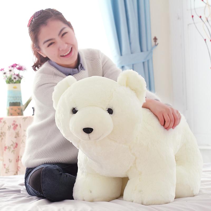 Large polar bear plush toy heavly plush doll pillow cushion birthday gift(China (Mainland))