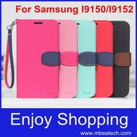 1 pcs Fashion Leather PU Cover Stand Case For Samsung Galaxy Mega 5.8 / i9150 i9152 9150 Wallet Cases Free shipping