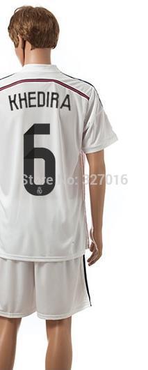 Free shipping-2014/15 Season #6 Khedira Home jersey&short,Soccer team uniforms(China (Mainland))
