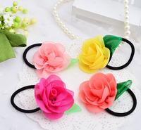 Hot sell Rose headband small flower hair accessory for lovely girls