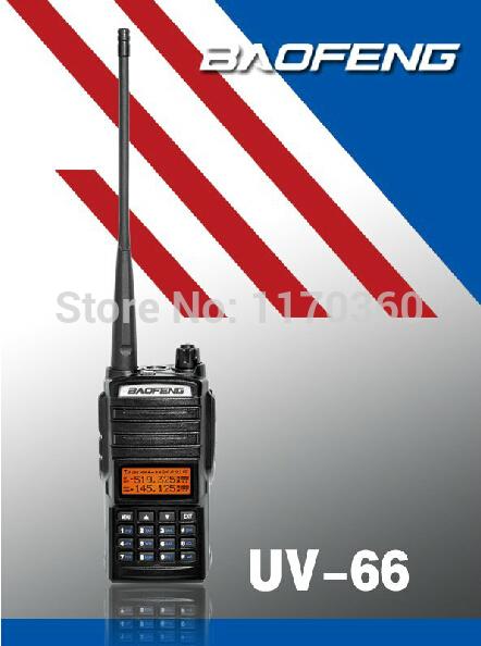 DHL Freeshipping+2014 New arrival Baofeng UV-66 amateur cd radio station UV66 VHF/UHF walk talk handheld transceiver interphone(China (Mainland))