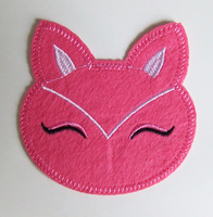 Lovely Animal fabric embroidered cloth patch appliques cartoon fox shape fashion patches Free shipping