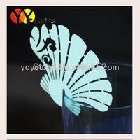 Unique paper blue color shell shape wedding favor laser cut place card holder ornament