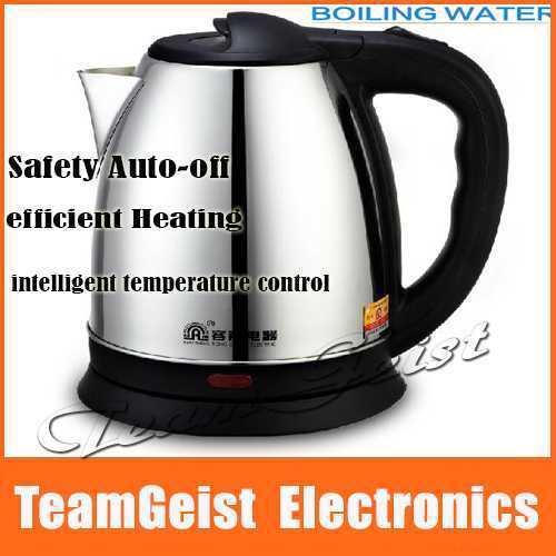 2.0l de aço inoxidável chaleira elétrica 360 graus aquecimento rápido 1800w& segurança auto- off cozinha função chá chaleiras água fervente(China (Mainland))