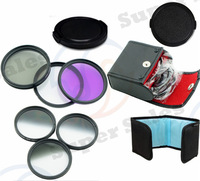 52mm Graduated Grey ND ND4 ND8  Set  + UV CPL FLD Filter Kit for Nikon D3100 D5100  D5200  D90 w/ 18-55mm camera lens
