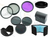 58 MM UV CPL FLD + ND2 4 8 Filter Kit Flower Petal Camera Lens Hood  for Canon 18-55mm EOS Rebel T4i T3i T2i XSi XTi