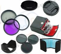 52mm  ND UV CPL FLD Filter Kit  Neutral ND2 ND4   Filter Set  for  Nikon D3000 D5100 D3100 D3200 D40 D60 with 18-55mm Lens