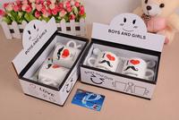 Drinkware supplies New arrive 2014 Free shipping Creative beard design Ceramic mugs sets Coffee mug supplies gift box packing