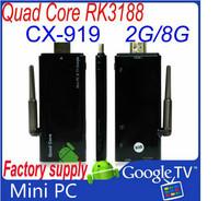 2GB RAM CX-919 rockchip rk3188 quad core mini PC OS 4.2.2 android TV stick dongle 8GB bluetooth external WiFi HDMI CX919