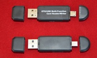 Wholesales USB OTG Micro USB Card Reader/Writer with SD Card Reader And TF Micro SD Card Reader for PC Smart Mobilephones