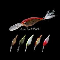 Trulinoya DW36 professional  trolling Shad Crankbaits fishing lures,80mm/13g 5 colors,5pcs/lot,Free shipping