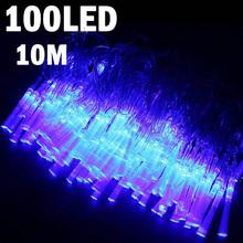 8-mode 100-LED String Lamp Light 10m for Christmas Halloween Wedding Blue(China (Mainland))