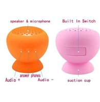 20pcs/lot,Mushroom Mini Wireless Bluetooth Speaker Waterproof Silicone Sucker Hands Free Speakers,Mobile phone PC Computer