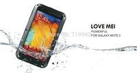 Original LOVE MEI Powerful Shockproof Dirtproof Waterproof Metal Case For Samsung Galaxy Note 3 ,free shipping MOQ:1PCS
