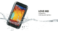 Original LOVE MEI Powerful Shockproof Dirtproof Waterproof Metal Case For Samsung Galaxy Note 3 ,free shipping MOQ:1PCS