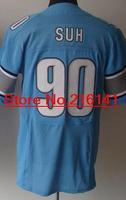 Elite Stitched American Football Jerseys Detroit Football #90 Ndamukong Suh Jerseys, Size 40-60, Accept Dropping Shipping.