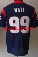 Elite Stitched American Football Jerseys Houston Football #99 J.J. Watt Jerseys, Size 40-60, Accept Dropping Shipping.