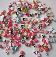 50pcs Mix design & Color Resin Beads Ice Cream for Nail Art Phone Case Scrapbook DIY Deco