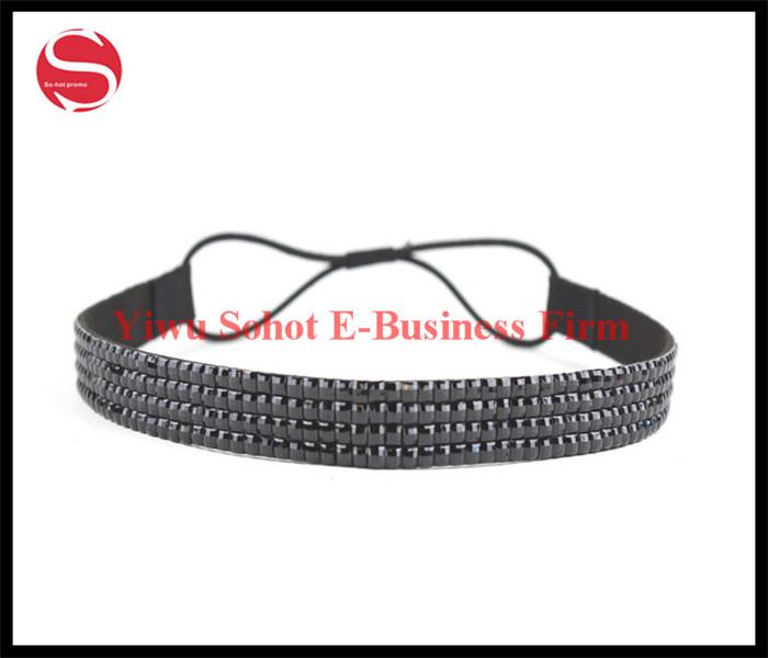 Free Shipping Women's Hair Accessory Elastic Crystal Rhinestone Hair Band Baby Headband Wholesale(China (Mainland))