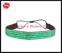 free shipping hot sale crystal bridal headband elastic hair band rhinestone headbands for women