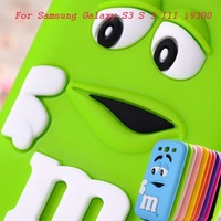 2014 Hot sale MM finger beans Silicon gel skin Cover for Samsung Galaxy S3 i9300 Case