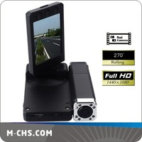 Free Shipping New Full HD Dual Cameras 1440 x 1080P Digital Zoom Car BLACK BOX X5000