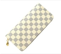 2014 Hot sales classic Style restoring ancient grid wallet Women's high quality Handbag wholesale Russia Free shipping