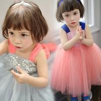 Children clothing retail 2014 summer new girls princess party dress child veil tutu dress Free shipping
