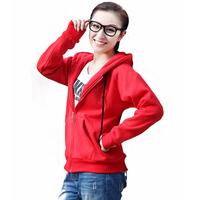 Spring 2014 sweatshirt plus size plus size clothing long-sleeve moleton cardigan thickening with a hood sweatshirt