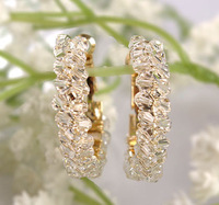 Fashion earrings crystal personalized elegant decoration earrings