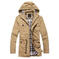 2014 autumn winter trench coat mens casual windbreaker jacket men's windcoat outwear military style polo long trench coat men