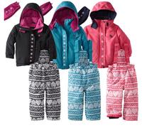 Children Girl Winter New 2014 Winter Girls Clothing Sets, SNOW SKI SUIT, Sport Suit, Girls Tracksuit set, Suit windproof Down