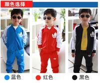 free shipping 2014 new children's coat + pant set boys girls fashion retail brand odeedy children set