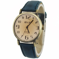 New Dedsigned Navy Blue Men Man's Business Dress Watch Boy's Casual Sports Round Watch Quartz Hours Clock, Free Shipping