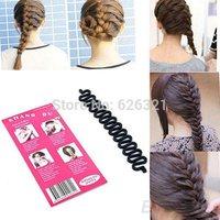 2014 Girls Hair Braiding Tool Roller With Magic hair Twist Styling Bun Maker Hot Sale hair accessories Free Ship