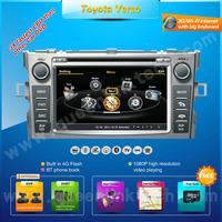 S100 3G A8 7'' Car DVD Player for Toyota Verso,,AutoRadio,GPS,Navi,Multimedia,Ipod,Free camera+Free shipping+Free map