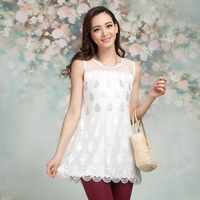 Free shipping, new spring and summer Korean female sling loose lace embroidery double all-match bottoming shirt vest