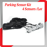 4 Pieces Silver Sensors Parking Sensor 22mm Monitor System Reversing Radar Car Reverse Probe Free Shipping