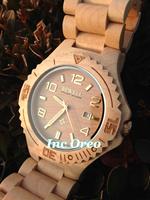 Nature Wooden Men Watch Eco-friendly Maple wooden Wristwatch Wristband Husband BF Gift Box BEWELL Wood Watch