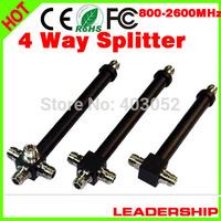 10pcs/lot 800mhz-2500MHz 4 Ways N Type Female Joint 200W Power Divider Broadcast Power Divider Splitter 1/4 4 way splitter