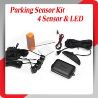 Car Parking Sensor Radar with 4 Sensors and LED Display FreeShipping Car Parking Sensor with various color12V